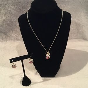 Claire's Owl Necklace and Earrings